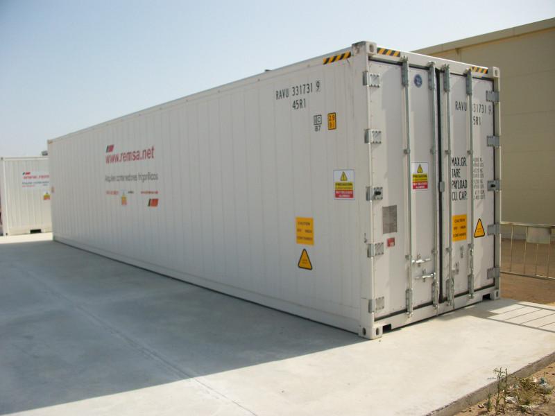 Los contenedores frigoríficos permiten incluso en Verano tener mercancía fresca